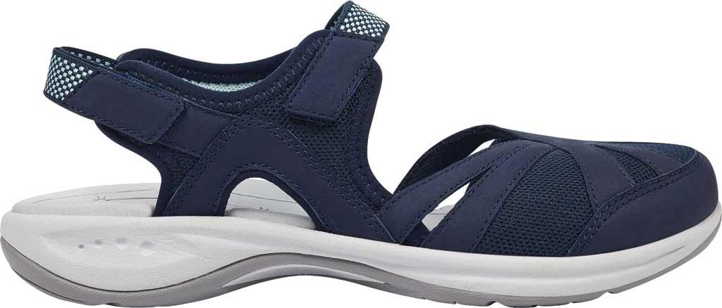 Women's Easy Spirit Splash Closed Toe Sandal, Blue Suede/Mesh, large, image 2