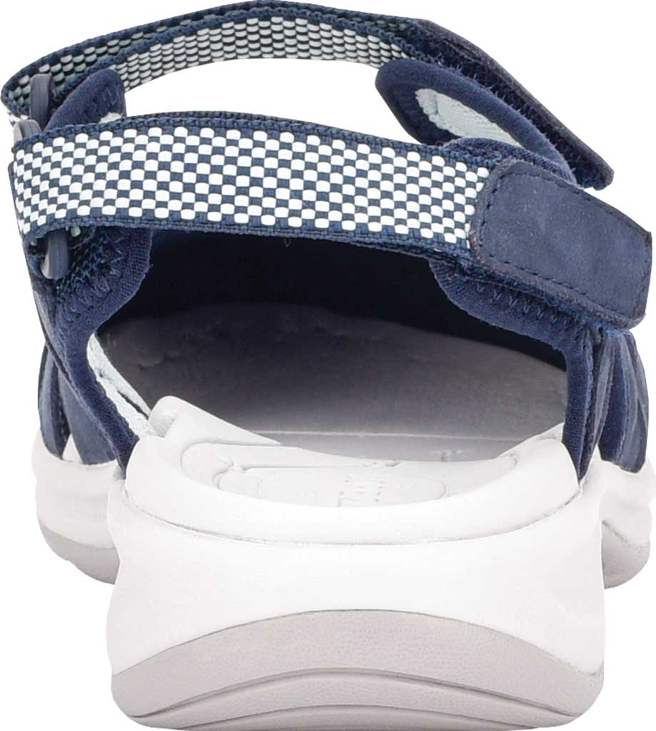 Women's Easy Spirit Splash Closed Toe Sandal, Blue Suede/Mesh, large, image 3