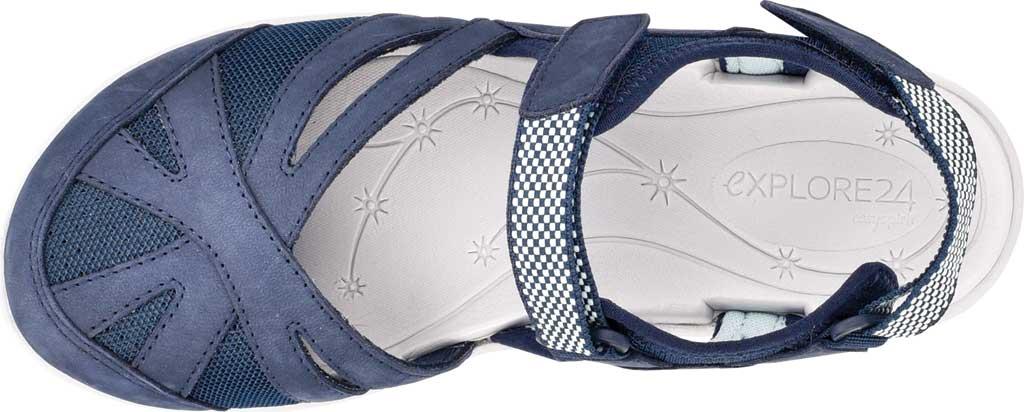 Women's Easy Spirit Splash Closed Toe Sandal, Blue Suede/Mesh, large, image 4