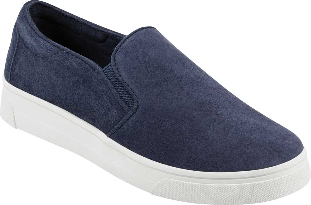 Women's Easy Spirit EVOLVE Lack Sneaker, Blue Suede/Stretch Elastic, large, image 1