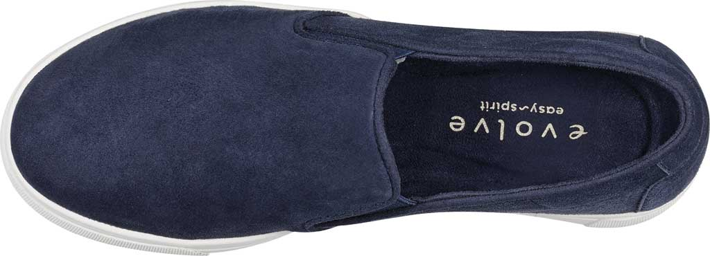 Women's Easy Spirit EVOLVE Lack Sneaker, Blue Suede/Stretch Elastic, large, image 4