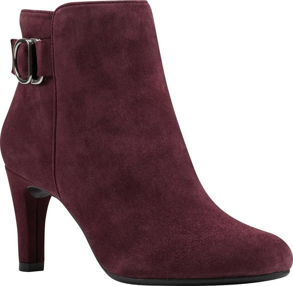 Women's Bandolino Lanna Ankle Boot, Sangria Leather, large, image 1
