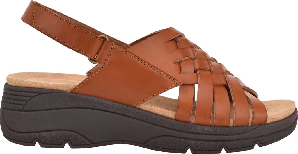 Women's Easy Spirit Ashle3 Woven Slingback Sandal, Medium Brown Synthetic, large, image 2