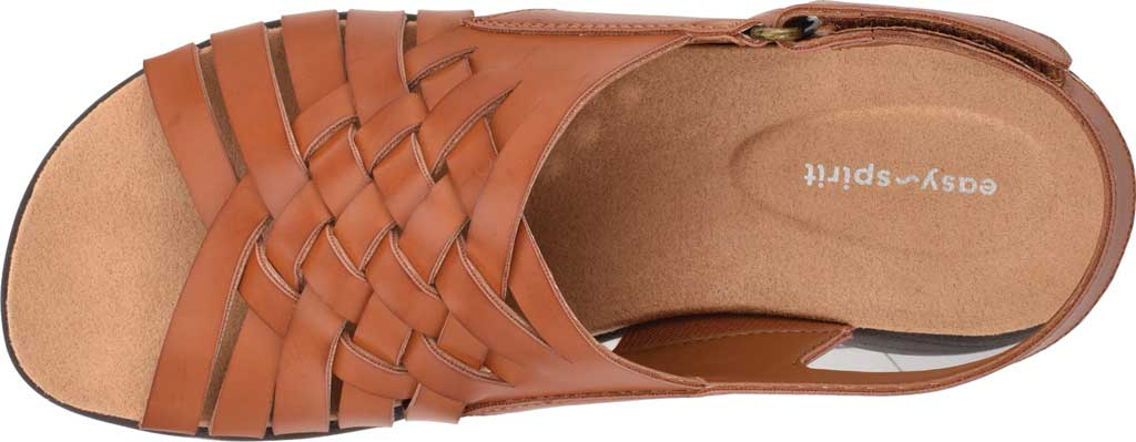 Women's Easy Spirit Ashle3 Woven Slingback Sandal, Medium Brown Synthetic, large, image 4