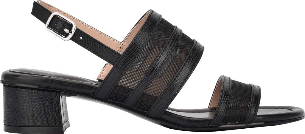 Women's Bandolino Rochel Block Heel Slingback, Black Mesh/Faux Leather, large, image 2