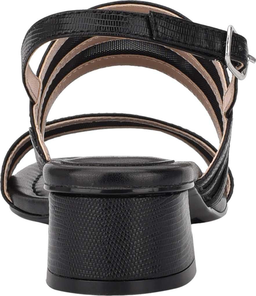 Women's Bandolino Rochel Block Heel Slingback, Black Mesh/Faux Leather, large, image 3