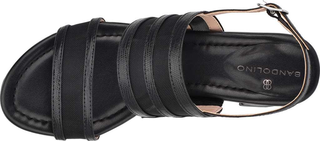 Women's Bandolino Rochel Block Heel Slingback, Black Mesh/Faux Leather, large, image 4
