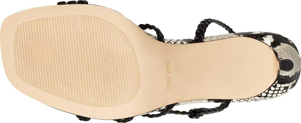 Women's Nine West Game2 Strappy Sandal, Black/Black Snake Faux Leather, large, image 5