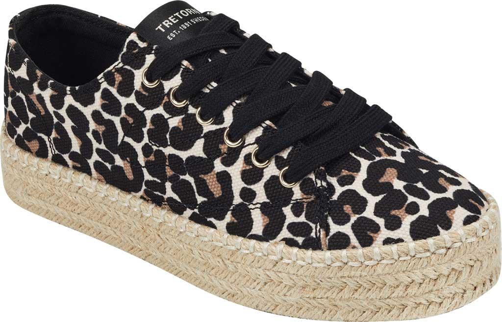 Women's Tretorn Eve Espadrille Sneaker, Sand Multi Leopard Textile, large, image 1
