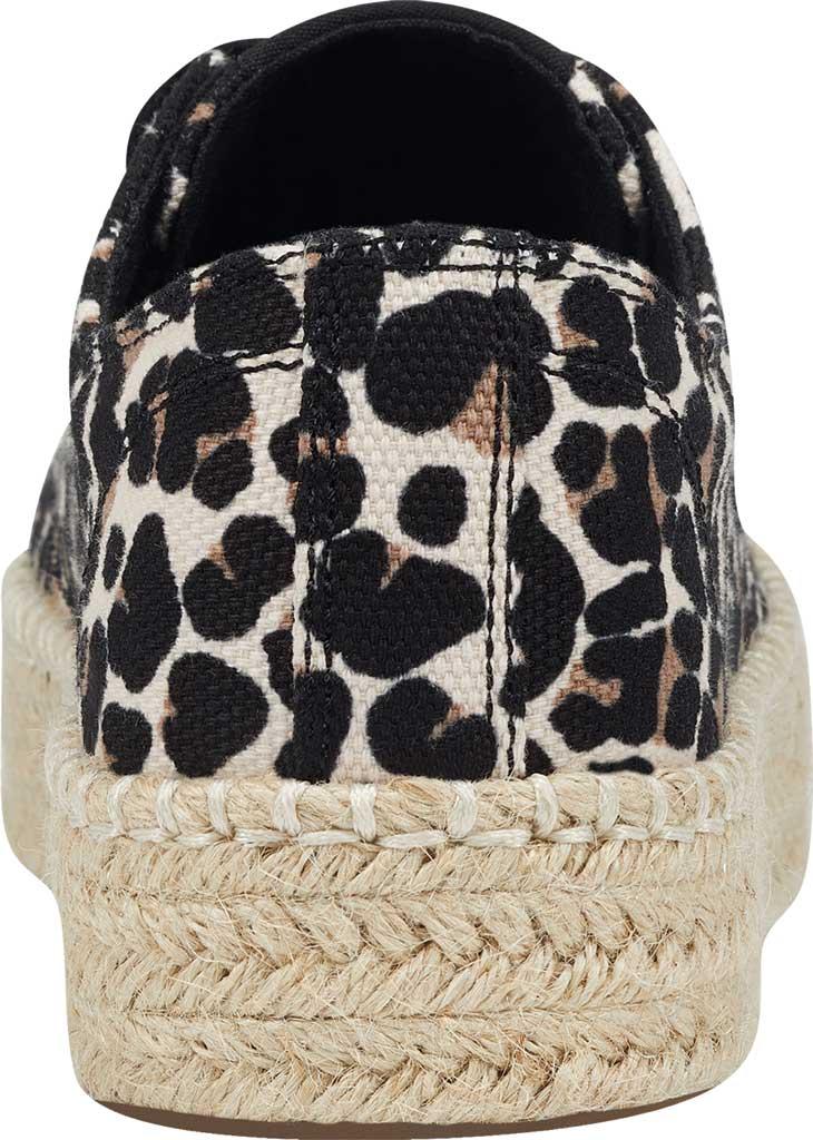 Women's Tretorn Eve Espadrille Sneaker, Sand Multi Leopard Textile, large, image 3