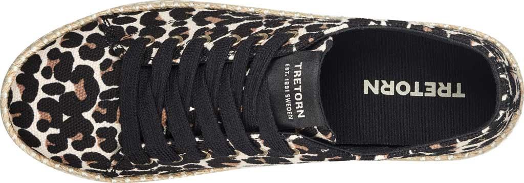 Women's Tretorn Eve Espadrille Sneaker, Sand Multi Leopard Textile, large, image 4