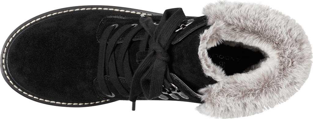 Women's Bandolino Lauria Faux Fur Bootie, Black Suede, large, image 4