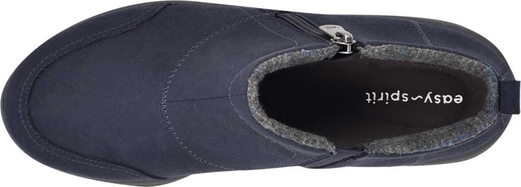 Women's Easy Spirit Veer Ankle Bootie, Blue Microsuede Fiber, large, image 4