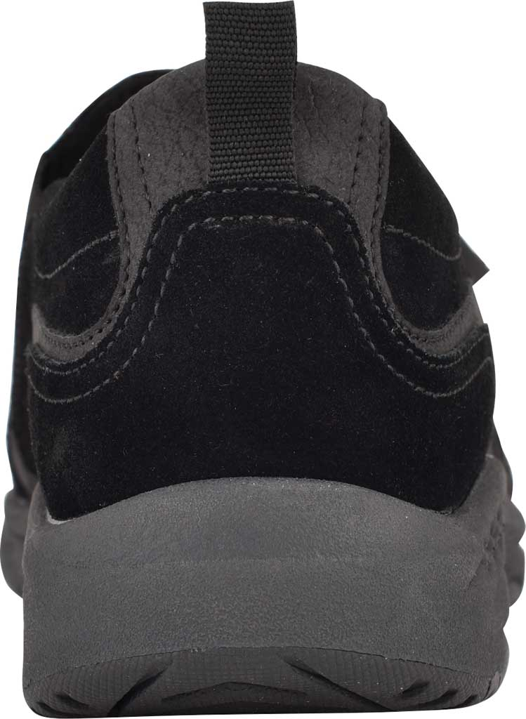 Women's Easy Spirit Thorne Sneaker, Black Softy Suede/Morocco PU, large, image 3