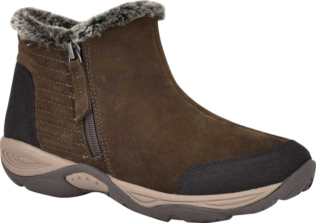 Women's Easy Spirit Elinot Ankle Bootie, Green Water Resistant Softy Suede, large, image 1