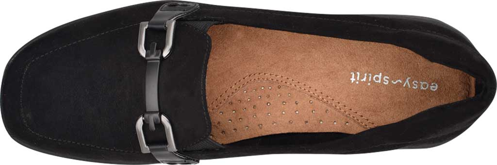 Women's Easy Spirit Abbie Loafer, Black Camoscio Suede/Havana PU, large, image 4