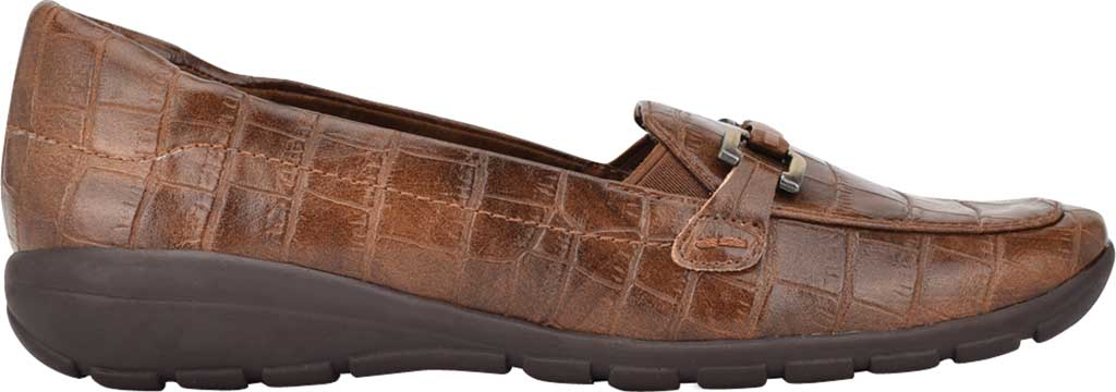 Women's Easy Spirit Abbie Loafer, Brown Croco PU, large, image 2