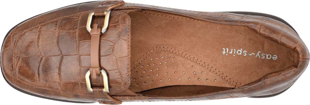 Women's Easy Spirit Abbie Loafer, Brown Croco PU, large, image 4
