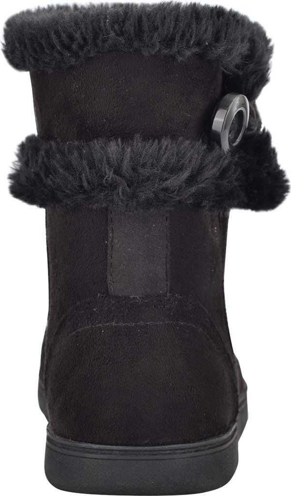 Women's Easy Spirit Snowy Bootie Slipper, Black Fabric Suede/Plush Fur, large, image 3