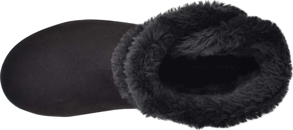 Women's Easy Spirit Snowy Bootie Slipper, Black Fabric Suede/Plush Fur, large, image 4