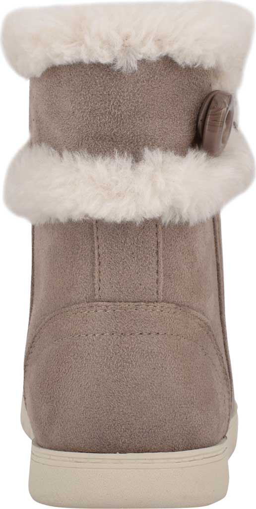 Women's Easy Spirit Snowy Bootie Slipper, Taupe Fabric Suede/Plush Fur, large, image 3