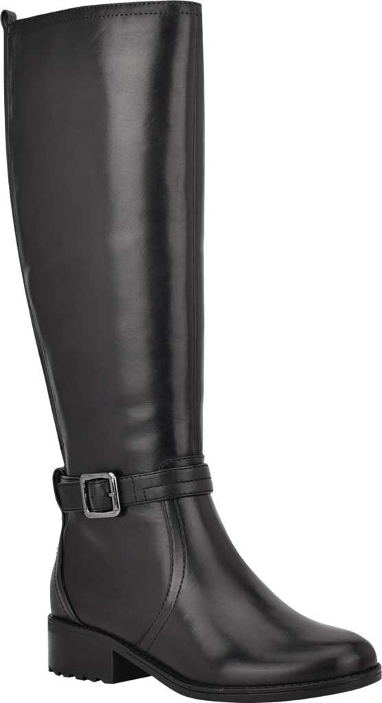 Women's Easy Spirit Reverie Wide Calf Knee High Boot, Black Nappa Calf/Nappa Calf PU, large, image 1