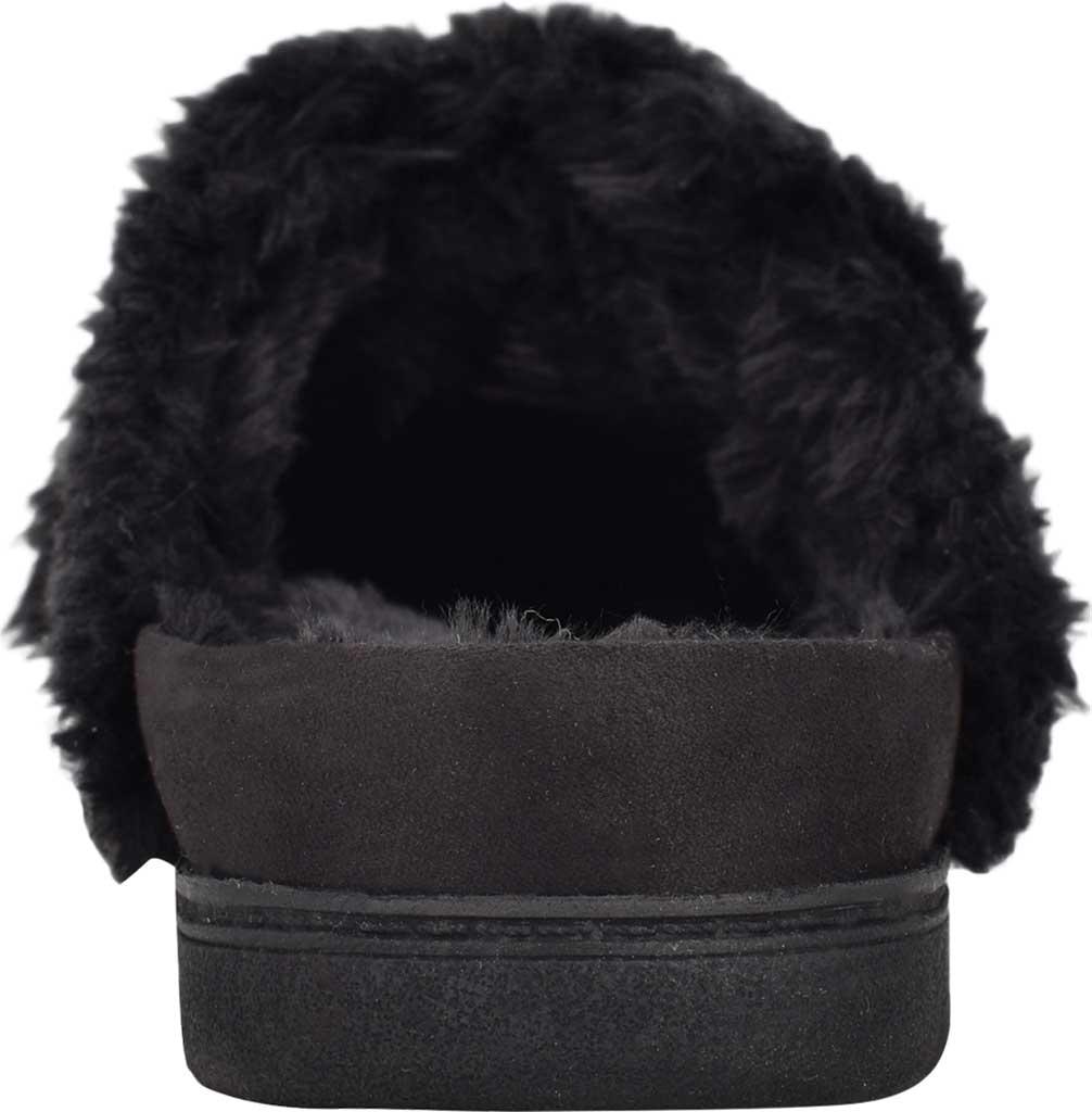 Women's Easy Spirit Season Mule Slipper, Black Fabric Suede/Plush Fur, large, image 3