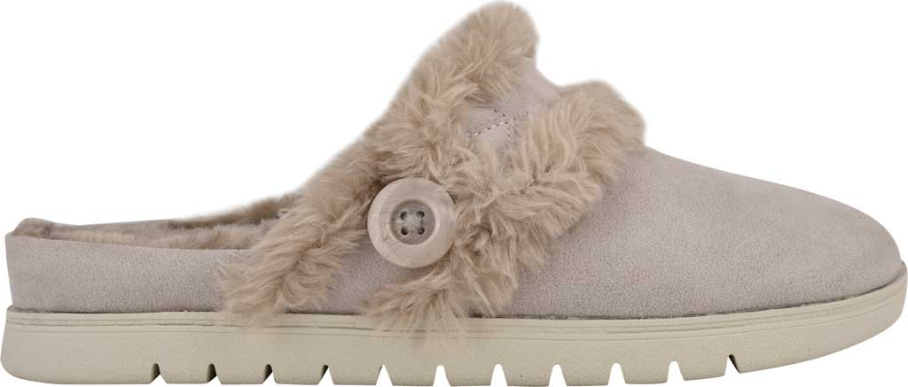 Women's Easy Spirit Season Mule Slipper, Light Gray Suede/Plush Fur, large, image 2