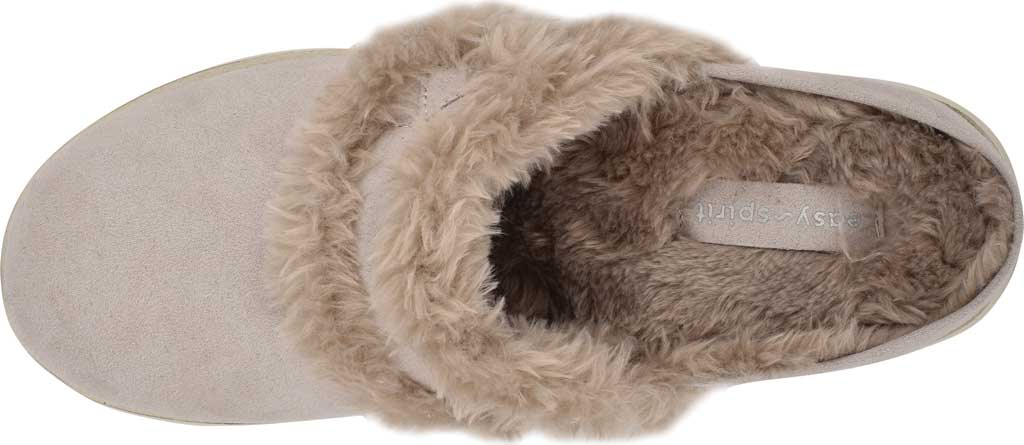 Women's Easy Spirit Season Mule Slipper, Light Gray Suede/Plush Fur, large, image 4