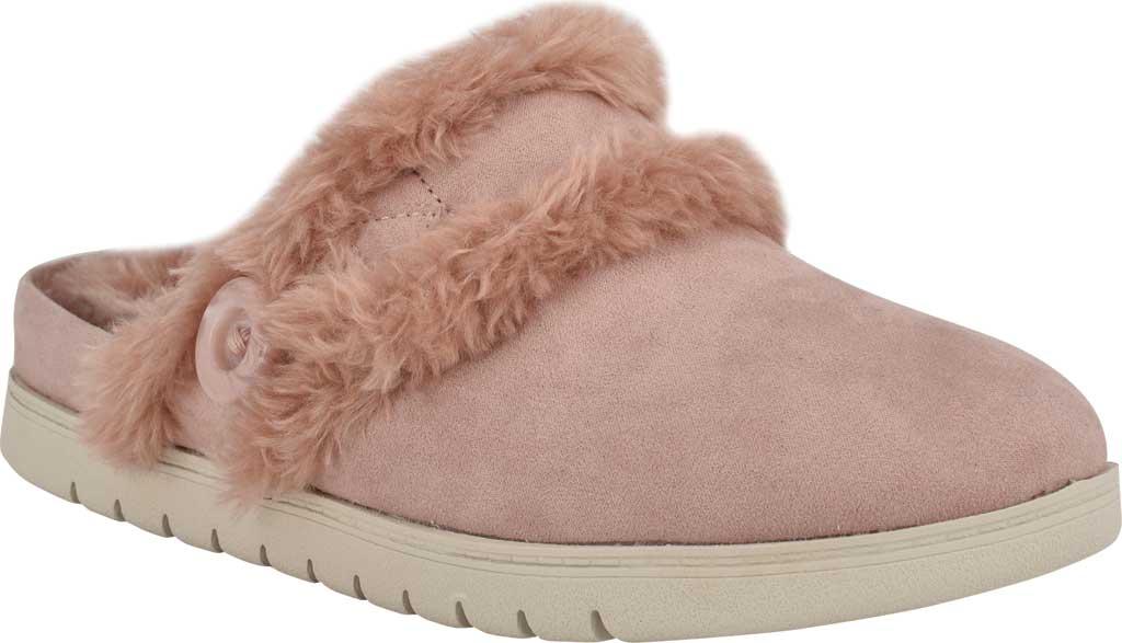 Women's Easy Spirit Season Mule Slipper, Light Pink Suede/Plush Fur, large, image 1
