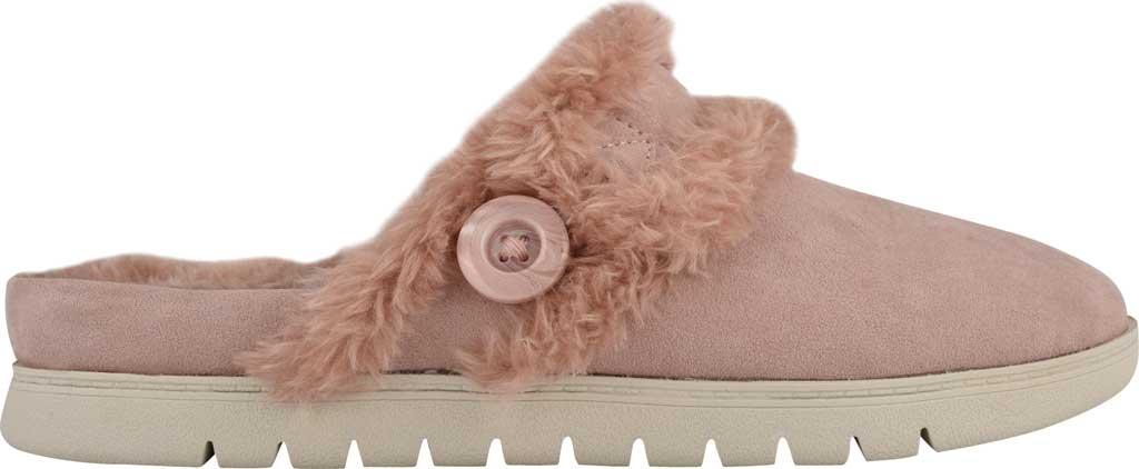 Women's Easy Spirit Season Mule Slipper, Light Pink Suede/Plush Fur, large, image 2