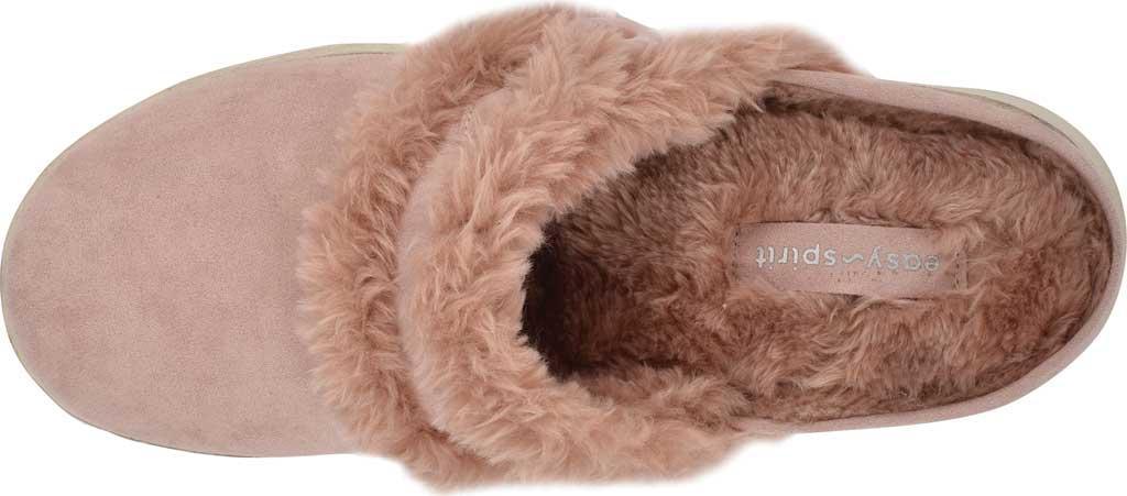 Women's Easy Spirit Season Mule Slipper, Light Pink Suede/Plush Fur, large, image 4