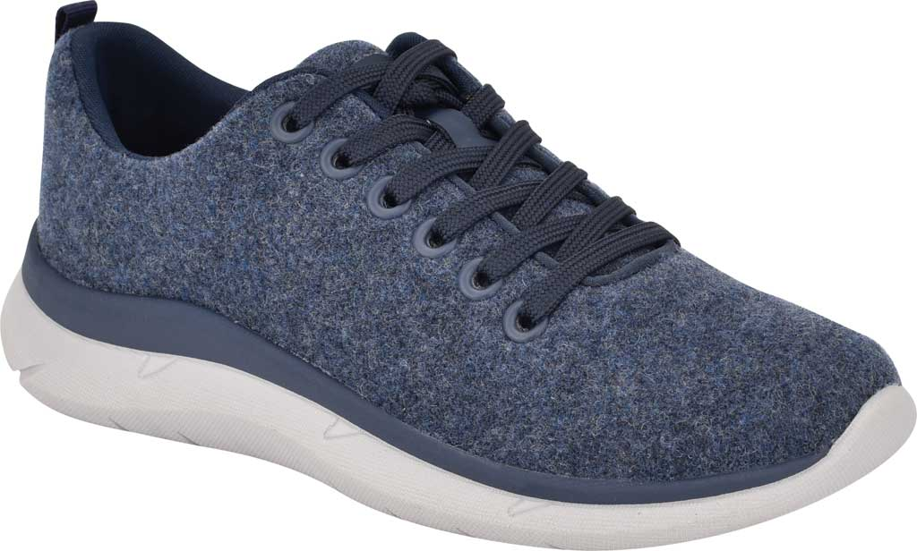 Women's Easy Spirit Skylar Sneaker, Blue Recycled Wooly Fabric, large, image 1