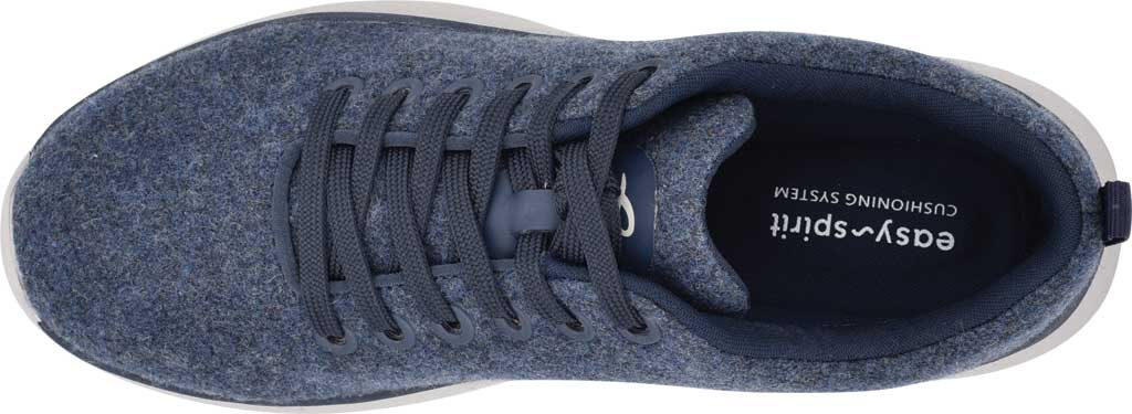 Women's Easy Spirit Skylar Sneaker, Blue Recycled Wooly Fabric, large, image 4