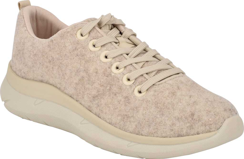 Women's Easy Spirit Skylar Sneaker, Light Natural Recycled Wooly Fabric, large, image 1