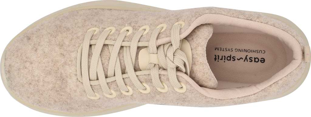 Women's Easy Spirit Skylar Sneaker, Light Natural Recycled Wooly Fabric, large, image 4