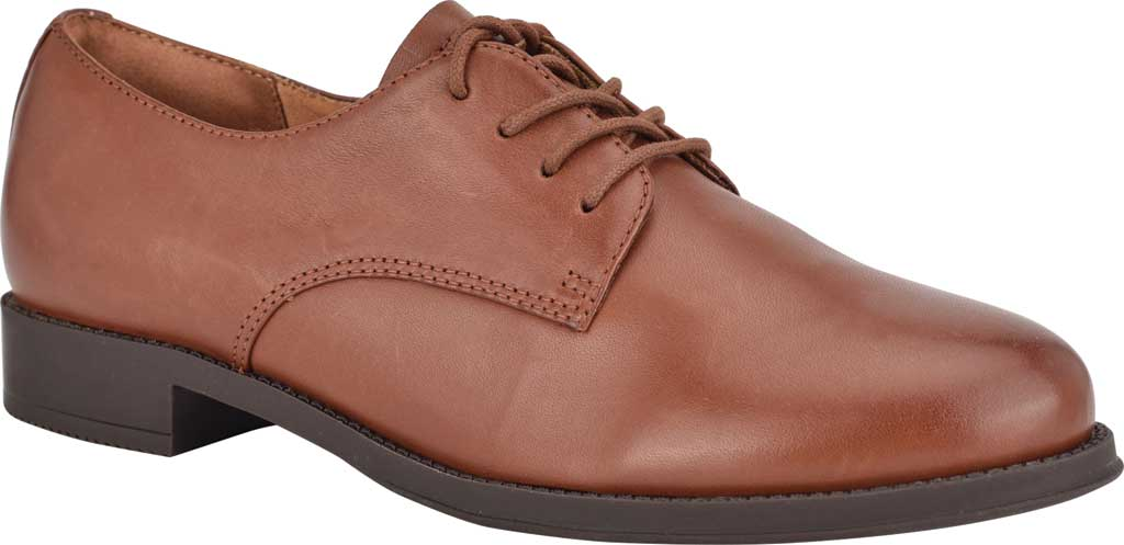 Women's Easy Spirit Rania Oxford, Brown Soft Calf Burnished, large, image 1