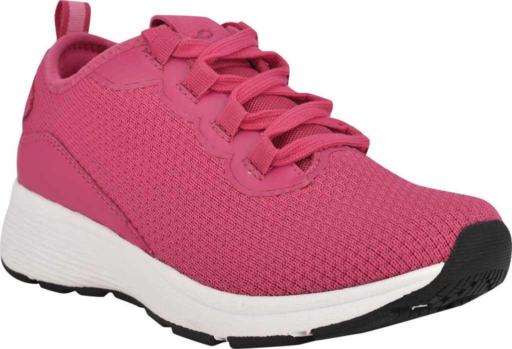 Women's Easy Spirit Skip2 Sneaker, Dark Pink Knit/Mesh, large, image 1