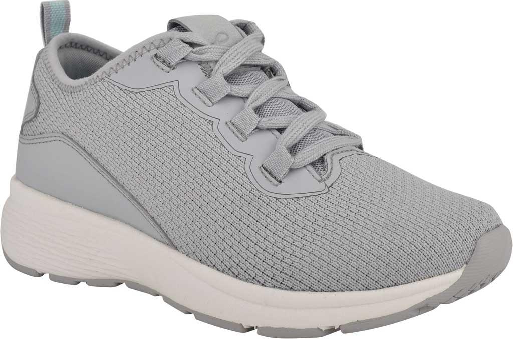 Women's Easy Spirit Skip2 Sneaker, Light Grey Knit/Mesh, large, image 1