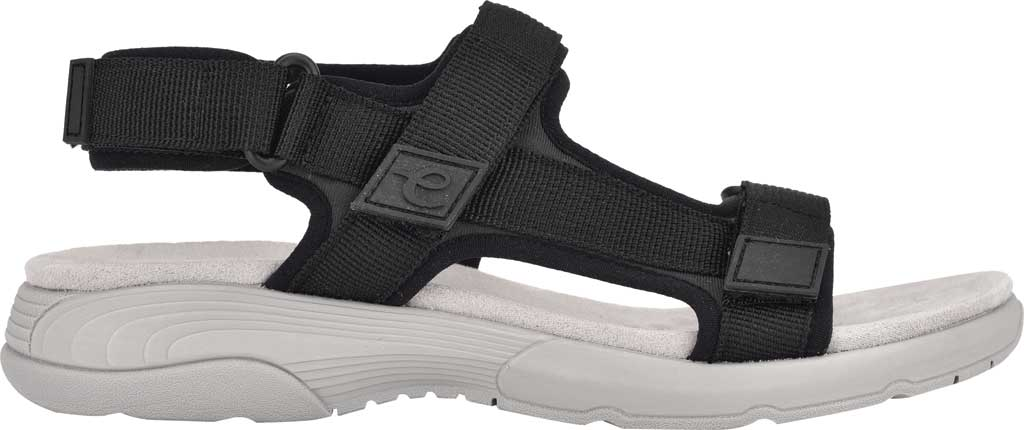 Women's Easy Spirit Tabata Active Sandal, Black Stretch Fabric, large, image 2