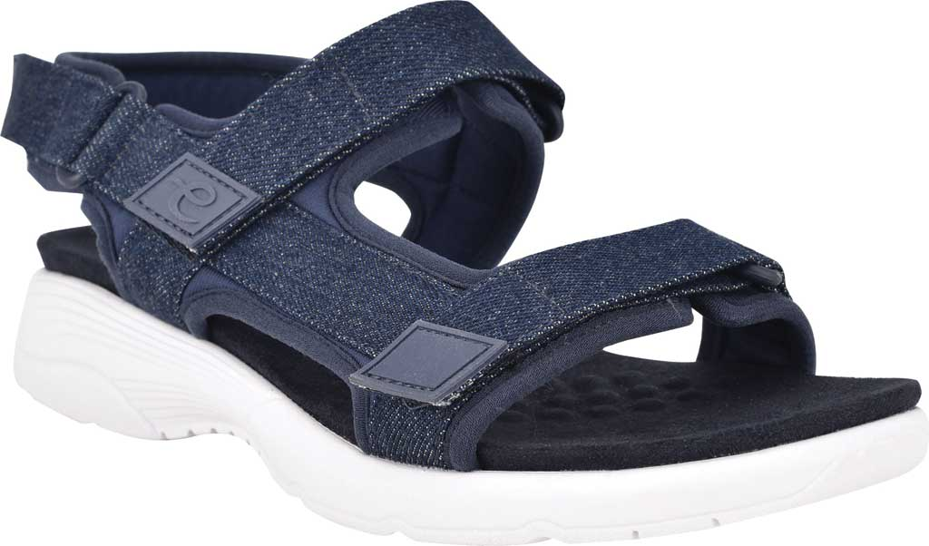 Women's Easy Spirit Tabata Active Sandal, Mood Indigo/Mood Denim Stretch Fabric, large, image 1