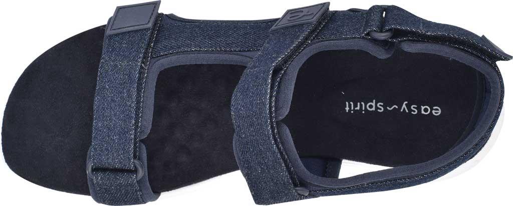 Women's Easy Spirit Tabata Active Sandal, Mood Indigo/Mood Denim Stretch Fabric, large, image 4