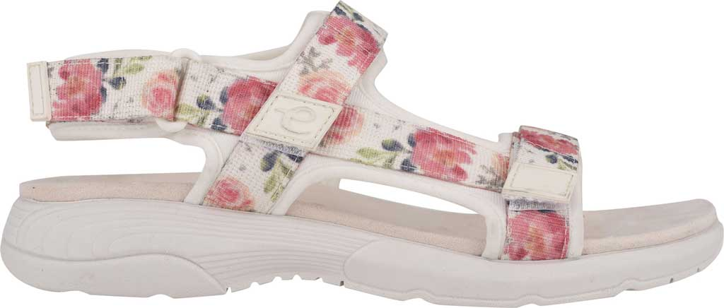 Women's Easy Spirit Tabata Active Sandal, White Stretch Fabric, large, image 2