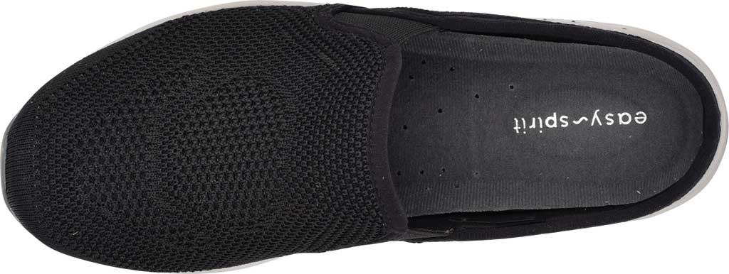 Women's Easy Spirit Takeknit2 Slip On Clog, Black/Black/Black Recycled Takeknit, large, image 4