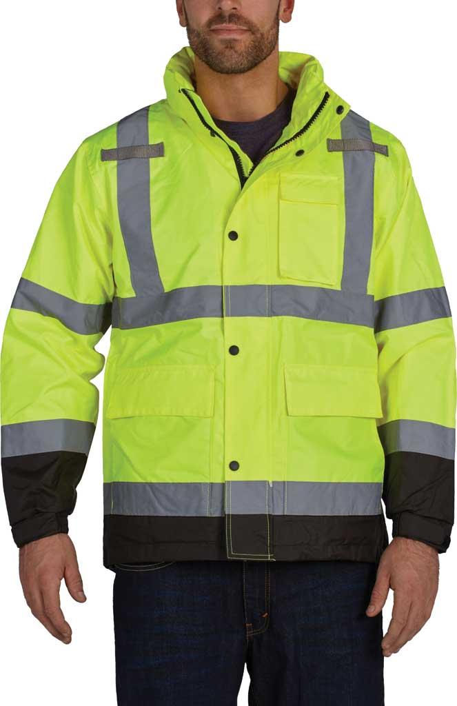Men's Utility Pro High Visibility Class 3 Pro-Grade WP Rain Jacket, Black/Yellow, large, image 1