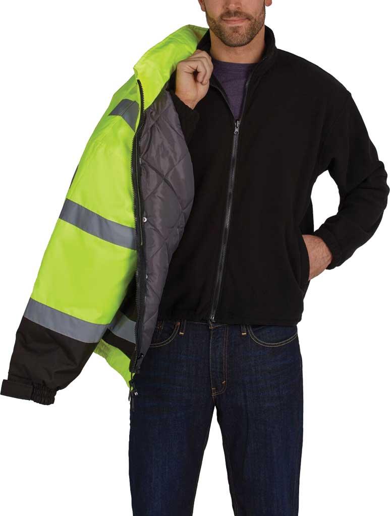 Men's Utility Pro High Visibility Premium Bomber Jacket, Yellow, large, image 2