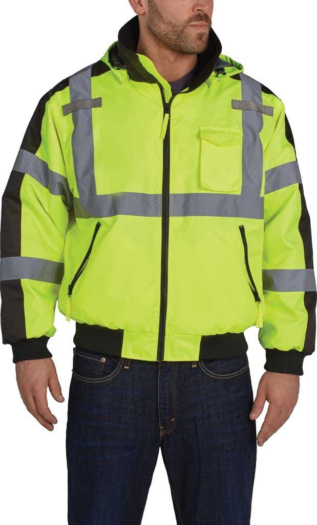 Men's Utility Pro High Visibility 3 Season Bomber Jacket, Yellow, large, image 1
