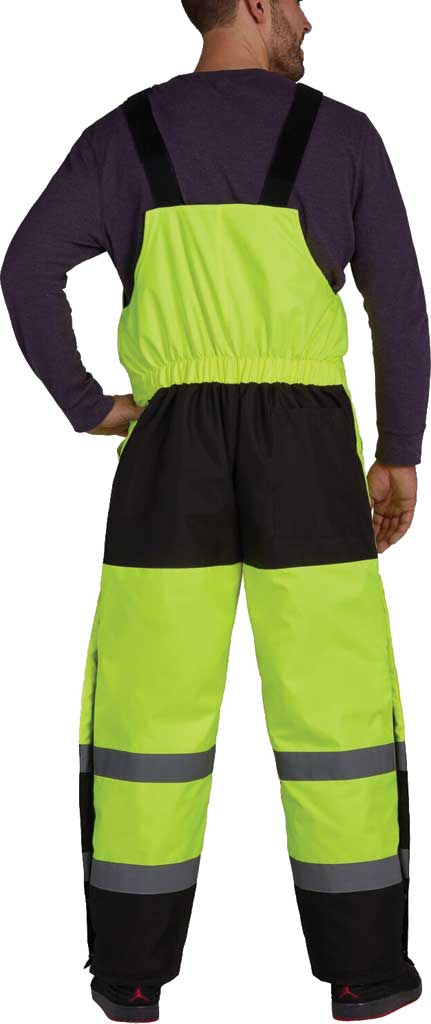 Men's Utility Pro High Visibility Insulated Bib Overall, Lime, large, image 2