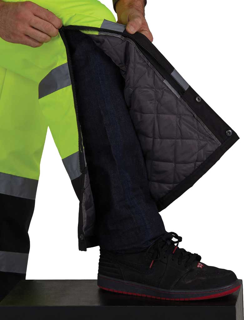 Men's Utility Pro High Visibility Insulated Bib Overall, Lime, large, image 3