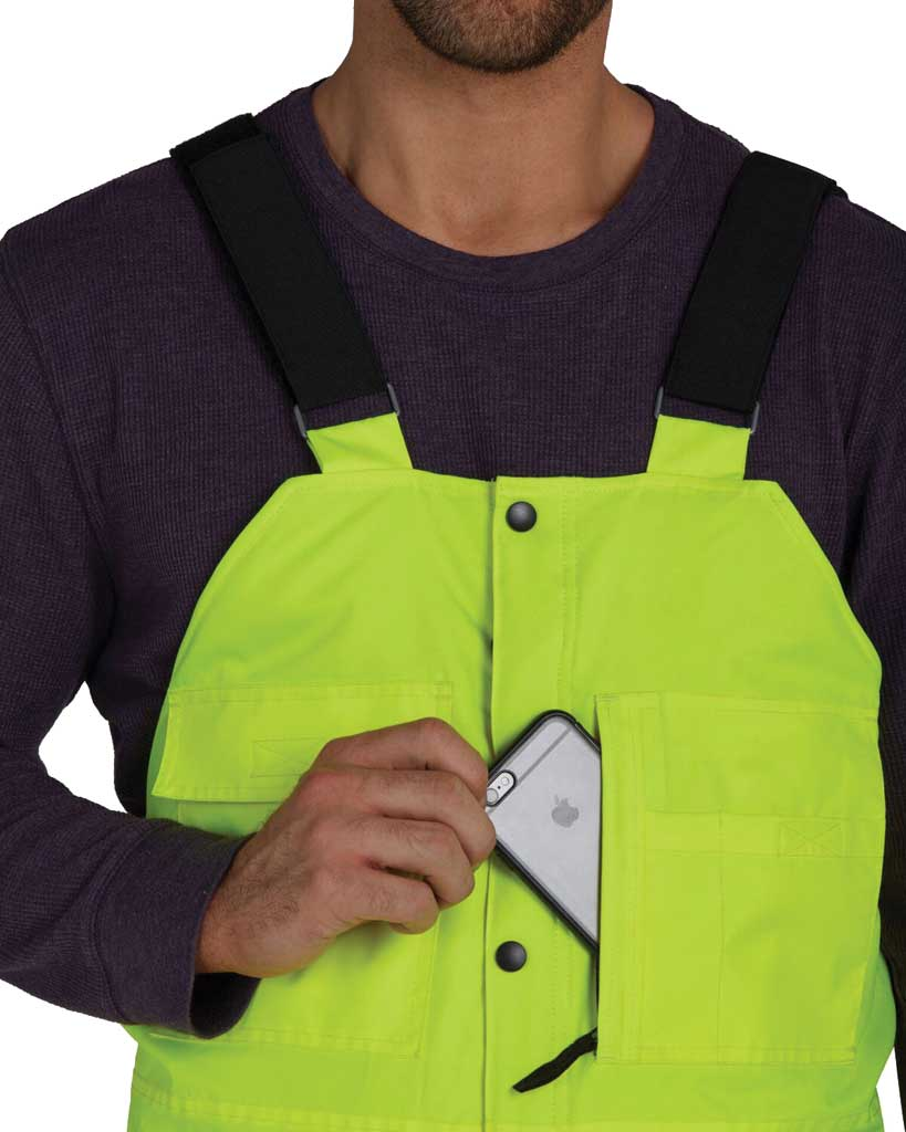 Men's Utility Pro High Visibility Insulated Bib Overall, Lime, large, image 4